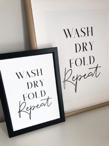 Wash dry fold repeat (A3 & A4 monochrome)